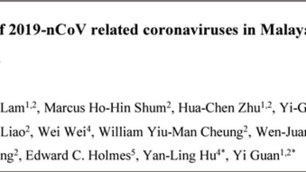 重磅!走私穿山甲上找到冠状病毒,与2019-nCoV病毒高度近似!