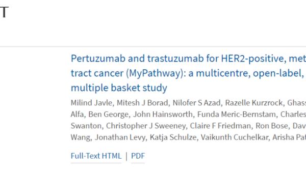 柳叶刀再发文!胆道肿瘤又现联合方案,针对HER2阳性患者安全有效