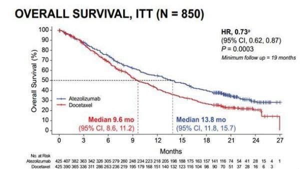 不论PD-L1高低,罗氏PD-L1抗体大胜化疗!